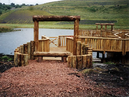Softwood Boardwalk at Caerphilly