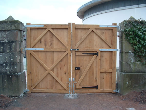Solid Wood Gate with access door