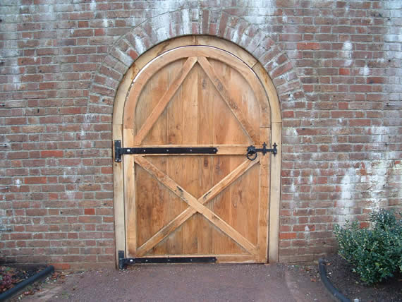 Hand-made oak door
