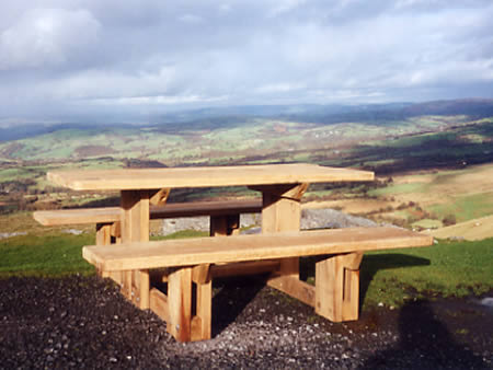 Triangular Picnic Tables  benches