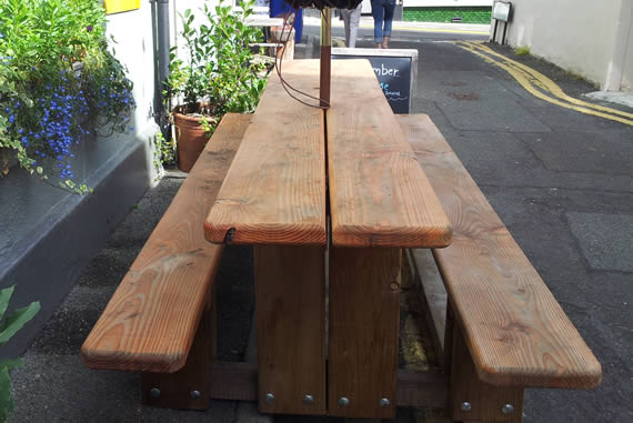 Specially designed narrow bench